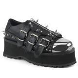 Vegan 7 cm GRAVEDIGGER-03 Goticas Sapatos Homem Plataforma