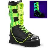 Vegan 7 cm GRAVEDIGGER-255 botas demonia - botas de cyberpunk unisex