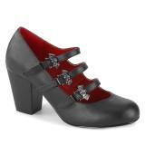 Vegan 8 cm VIVIKA-38-2 gothic sapatos scarpin maryjane de asas de morcego