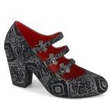 Vegan 8 cm VIVIKA-38 gothic sapatos scarpin maryjane de asas de morcego