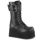 Vegan 9,5 cm PETROL-150 botas demonia - botas plataforma unisex