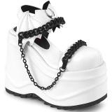 Vegan Branco 15 cm Demonia WAVE-20 lolita sandálias de cunha plataforma