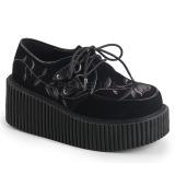 Veludo 7,5 cm CREEPER-219 plataforma sapatos creepers mulher