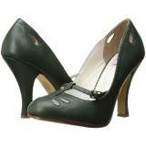 Verde 10 cm SMITTEN-20 Pinup sapatos scarpin com saltos baixos