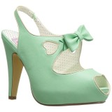 Verde 11,5 cm BETTIE-03 Pinup sapatos scarpin de plataforma oculta