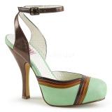 Verde 11,5 cm CUTIEPIE-01 Pinup sandálias de plataforma oculta