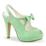 Verde 11,5 cm retro vintage BETTIE-03 Pinup sapatos scarpin de plataforma oculta