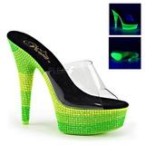 Verde 15 cm DELIGHT-601UVS neon plataforma tamancos mulher