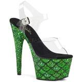 Verde 18 cm ADORE-708MSLG brilho plataforma sandálias mulher
