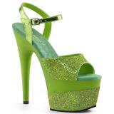 Verde 18 cm ADORE-709-2G brilho plataforma sandálias mulher
