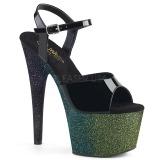 Verde 18 cm ADORE-709OMBRE brilho plataforma sandálias mulher