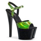 Verde 18 cm SKY-309HG Holograma plataforma salto alto mulher
