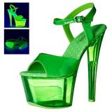 Verde 18 cm SKY-309UVT Neon Plataforma Sandálias Salto Agulha