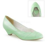 Verde 4 cm retro vintage LULU-05 Pinup sapatos scarpin com saltos baixos