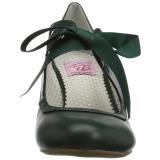 Verde 6,5 cm WIGGLE-32 Pinup sapatos scarpin com salto grosso