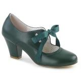 Verde 6,5 cm WIGGLE-32 retro vintage sapatos maryjane com salto grosso