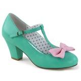 Verde 6,5 cm WIGGLE-50 Pinup sapatos scarpin com salto grosso