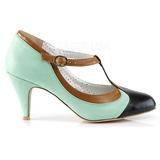 Verde 8 cm PEACH-03 Pinup sapatos scarpin com saltos baixos