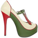 Verde Bege 14,5 cm Burlesque TEEZE-43 calçados femininos com salto alto