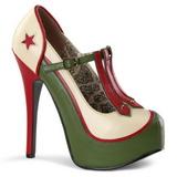 Verde Bege 14,5 cm TEEZE-43 calçados femininos com salto alto