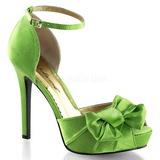 Verde Cetim 12 cm LUMINA-36 sapato scarpin para noite de gala