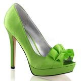 Verde Cetim 12 cm LUMINA-42 sapato scarpin para noite de gala