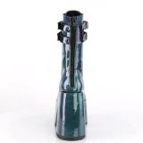 Verde Envernizado 12,5 cm CAMEL-250 botinha demonia com plataforma