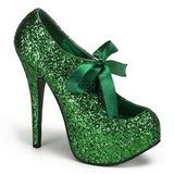 Verde Glitter 14,5 cm TEEZE-10G Platform Scarpin Sapatos