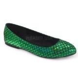 Verde MERMAID-21 sapatos de bailarinas baixos