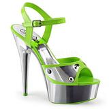 Verde Neon 15 cm DELIGHT-609NC Sandálias Plataforma Cromo