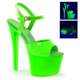 Verde Neon 18 cm Pleaser SKY-309UV Plataforma Salto Agulha