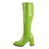 Verde Verniz 7,5 cm Funtasma GOGO-300 Botas Femininas