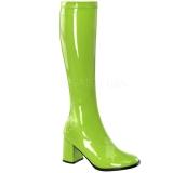 Verde Verniz 8,5 cm GOGO-300 Botas Mulher para Homens