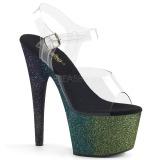 Verde brilho 18 cm Pleaser ADORE-708OMBRE sapatos de saltos pole dance