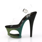 Verde brilho 18 cm Pleaser MOON-708OMBRE sapatos de saltos pole dance