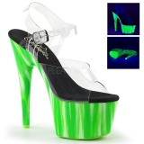 Verde neon 18 cm Pleaser ADORE-708UVP sapatos de saltos pole dance