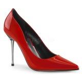 Vermelho 10 cm APPEAL-20 sapatos scarpin salto agulha metal