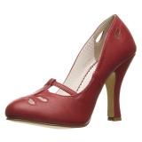 Vermelho 10 cm SMITTEN-20 Pinup sapatos scarpin com saltos baixos