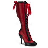Vermelho 11,5 cm TEMPT-126 Botas com Cadarco Femininas