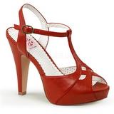 Vermelho 11,5 cm retro vintage BETTIE-23 sandálias para noite de gala