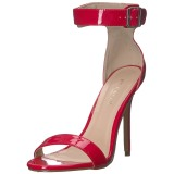 Vermelho 13 cm AMUSE-10 sapatos de travesti