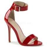 Vermelho 13 cm Pleaser AMUSE-10 sandálias de salto alto mulher