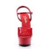 Vermelho 15 cm DELIGHT-609 saltos altos pleaser com plataforma