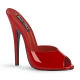 Vermelho 15 cm DOMINA-101 Chinelos Saltos Altos para Homens