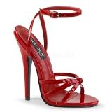 Vermelho 15 cm DOMINA-108 sapatos de travesti