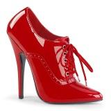 Vermelho 15 cm DOMINA-460 sapatos oxford com salto agulha