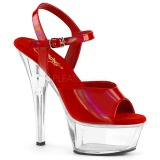 Vermelho 15 cm KISS-209BHG Plataforma Sapatos Salto Alto