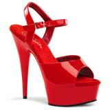 Vermelho 15 cm Pleaser DELIGHT-609 Salto Alto Plataforma