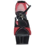 Vermelho 15 cm Pleaser DELIGHT-652 Sandálias de salto alto
