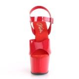Vermelho 18 cm ADORE-708N Plataforma Sapatos Salto Alto